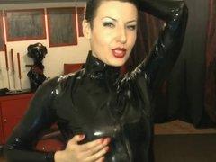 Latex Sexy on webcam