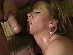 getting fucked with cum on her face