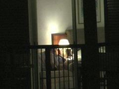 Hotel window part II (milf caught playing)