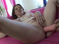 Anal creampie for this sexy girl