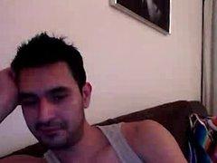 Straight guys feet on webcam #556
