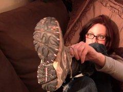 Nerdy Penny New Balance sneaker noise fondling shoeplay prev