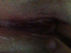 Sexy mom masterbates up close