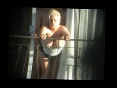 Spying Exhib Neighbour Fucking on Balcony BVR