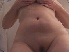 Female Nude chubby takes pleasure
