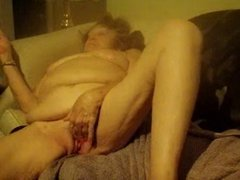 Jacking Off On Granny