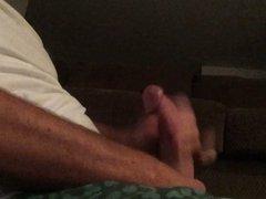 Stroking my big 9x6 cock