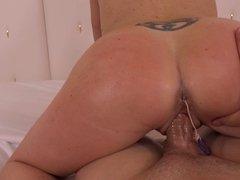 35yo Mom (MILF) POV-fucked hard anal beads blowjob Part1