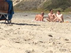 3 gays at the beach