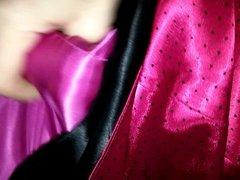 Pink Satin Stroking