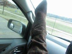 Putting on my stuart weitzman Boots