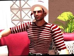 Second Life - Santa Picks Up a Stripper! Part 2