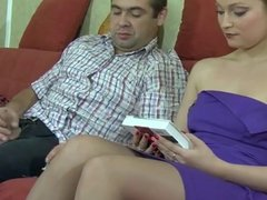 blonde milf in stockings gets fucked