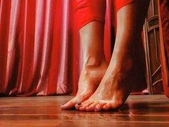Creamy European feet