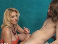 Lucky Young Guy Tit Fucks Hot Tampa MILF Charlee Chase
