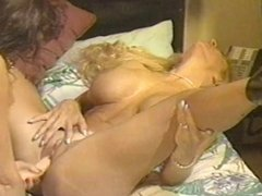 Vintage Busty Pierced Lesbian Strapon Sex