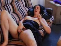 masturbation fingering couch orgasm