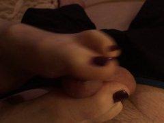 Amateur footjob - POV - awesome toes