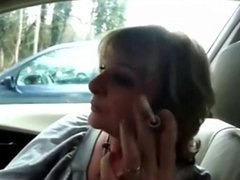 Granny Head #40 Cheating with her Co-worker in the Car