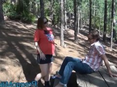 pregnant 9 months analfucking in the forest with MILF