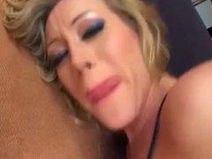 Blonde milf take two cocks