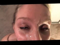 Hot Chick Gets Her Faced Glazed With Cum