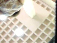 upskirt white thong coworker