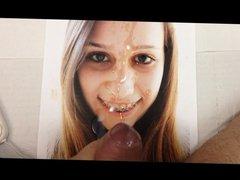 Cum tribute #46: Teen braces photo buttplug cumsquirt