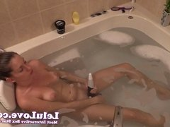 Lelu Love-Vibrator Dildo Masturbation In Bathtub