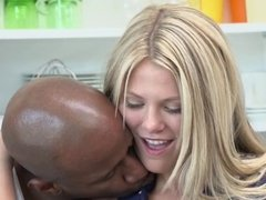 Blonde Teen Fucked by Big Black Cock