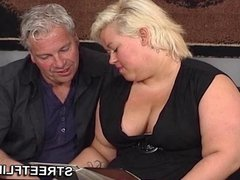 Fat blonde German amateur housewife ready for some hot sex