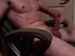 Big cock pumping out massive load