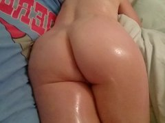 Spanking My 50 Year Old Wife's Oiled Arse