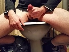 wc toilet wank cum