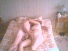 French old Couple on bed