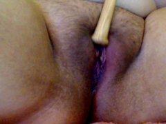 playing with mini baseball bat 2