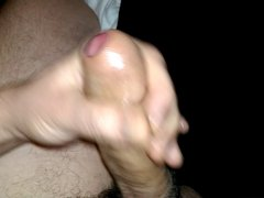 Uncut cock cumming again