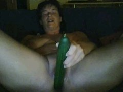 German Milf masturbating on skype