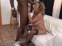 Mature mother and ex porn star Karen Summer go black