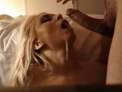 Thick And Gooey Cumshot For Blonde Amateurs Face