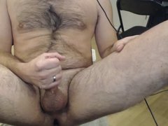 Huge Cumshot in the Air While Jerking