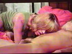Vintage clip of mature with young boy