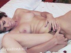 Rina masturbates with cherries and enjoys them