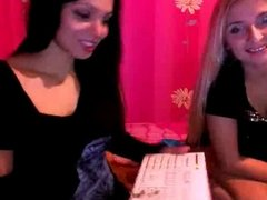 Two hot girls dancing on webcam