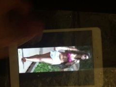 Cum Tribute on Selena Gomez and Kim Kardashian
