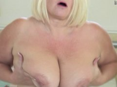 Dirty busty grandmother hungry for fuck
