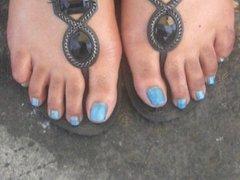 Krystal Lewis Teal Sexy Feet