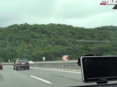 FUN MOVIES German lesbians driving a car and having sex