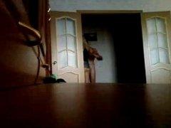 Hidden cam in his parents house
