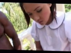 cute asian slut blows black cocks